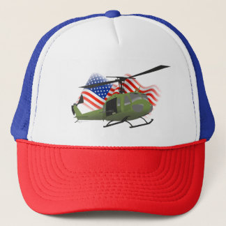 Patriotic UH-1 Huey Trucker Hat