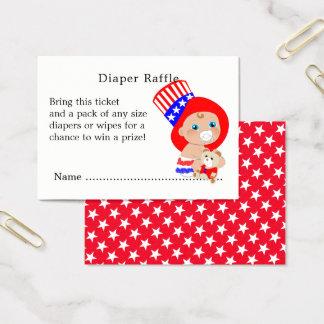 Patriotic Uncle Sam American Baby Diaper Raffle Business Card