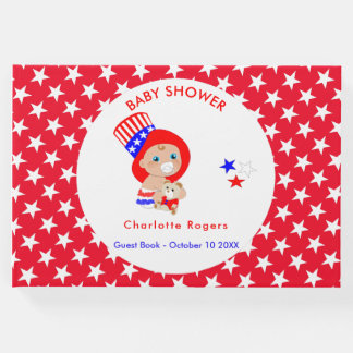 Patriotic Uncle Sam American Baby Personalized Guest Book