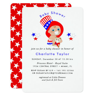Patriotic Uncle Sam American Baby Shower Card
