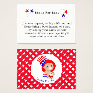 Patriotic Uncle Sam American Books For Baby Business Card
