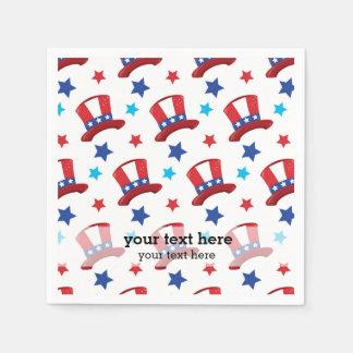 Patriotic Uncle Sam hats Paper Napkins