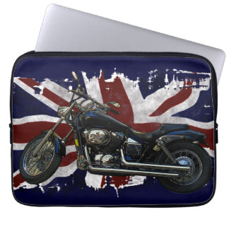 Patriotic Union Jack UK Union Flag & Motorcycle Computer Sleeves