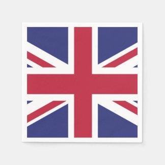 Patriotic United Kingdom Flag Disposable Napkins