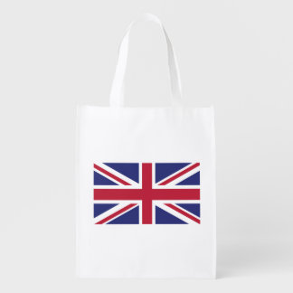 Patriotic United Kingdom Flag Reusable Grocery Bag