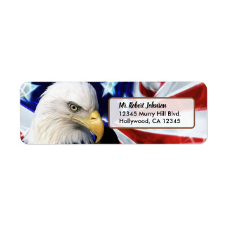 Patriotic United States Bald Eagle