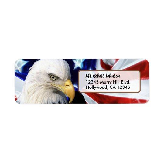 Patriotic United States Bald Eagle