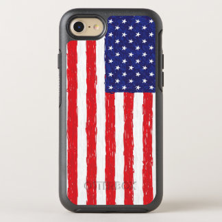 Patriotic United States Flag Drawing OtterBox Symmetry iPhone 8/7 Case