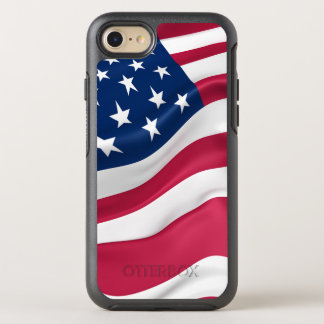 Patriotic United States Flag OtterBox Symmetry iPhone 8/7 Case