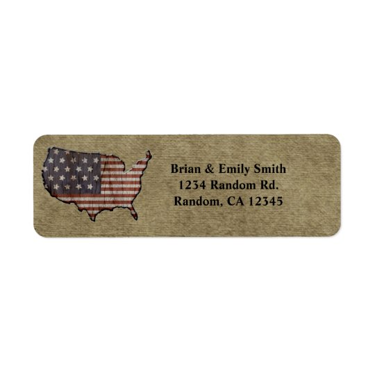 Patriotic United States return address labels