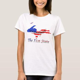 Patriotic Upper Peninsula Yooperland 51st State T-Shirt