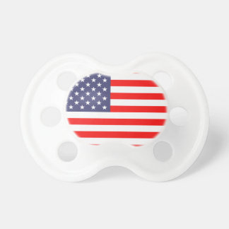 Patriotic US American flag baby pacifier soother