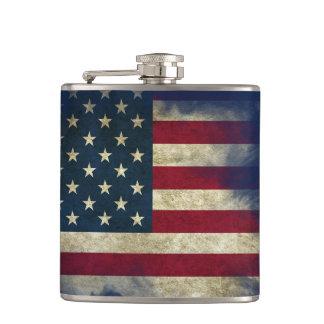 Patriotic US Flag, aged & weathered Hip Flask