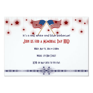 Patriotic US Flags and Stars Memorial Day Card