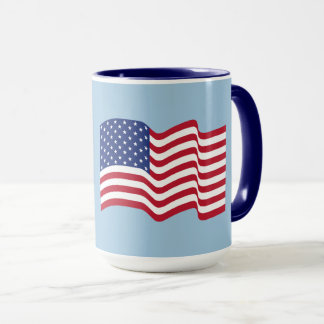 Patriotic USA American Flag Coffee Mug Gift