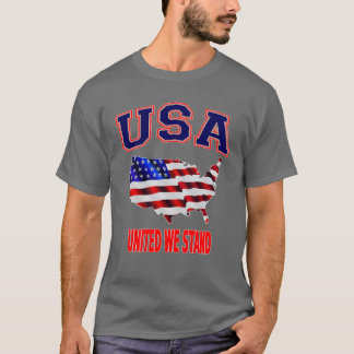 Patriotic USA American Flag United We Stand T-Shirt