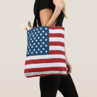 Patriotic USA and UK Flags Tote Bag