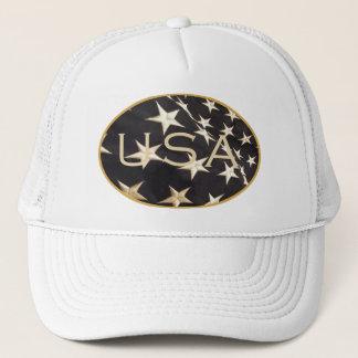 """Patriotic """"USA"""" Baseball Cap Trucker Hat"""