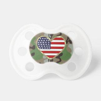Patriotic USA Camo Baby Pacifier