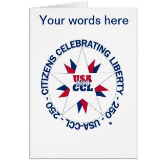 Patriotic USA Card - USA's 250th or CCL Birthday