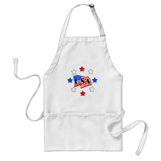 Patriotic USA Flag Standard Apron