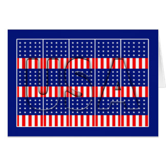Patriotic USA Flags - God Bless the USA Card