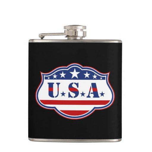 Patriotic USA Hip Flask