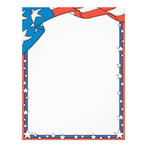 Patriotic Usa Letterhead Letterhead Template Zazzle