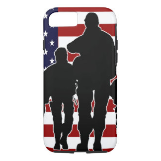 Patriotic USA Military Soldiers iPhone 7 Case