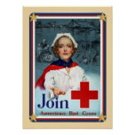 Patriotic USA - Red Cross Join Posters