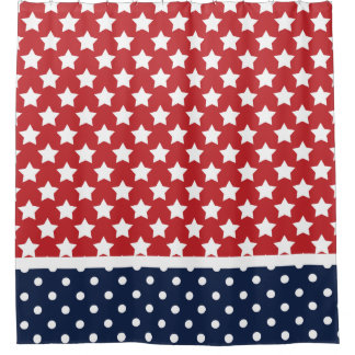 Patriotic USA Stars and Polka Dots