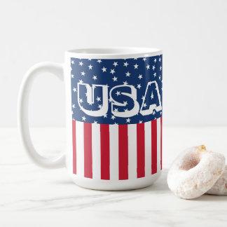 Patriotic USA Stars and Stripes American Flag 4th Coffee Mug