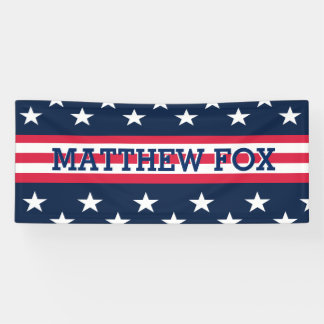 Patriotic USA Stars Stripes American Flag Banner