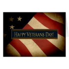 PATRIOTIC - VETERANS DAY - WEATHERED FLAG CARD