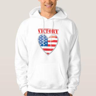 Patriotic Victory Heart United States Hoodie