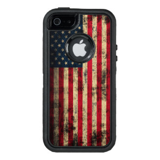 Patriotic Vintage Grunge American Flag OtterBox Defender iPhone Case