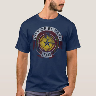 Patriotic Vintage Grunge Flag of El Paso Texas T-Shirt