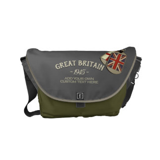 Patriotic Vintage Style British Dog Tags Messenger Bag