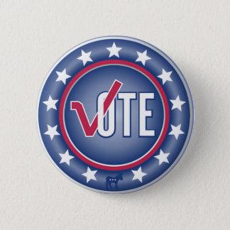 Patriotic Vote Democrat Donkey Symbol Button