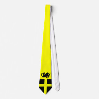 Patriotic Wales St Davids Day Dragon on Yellow Tie
