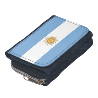 Patriotic wallet with Flag of Argentina