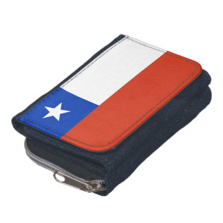 Patriotic wallet with Flag of Chile
