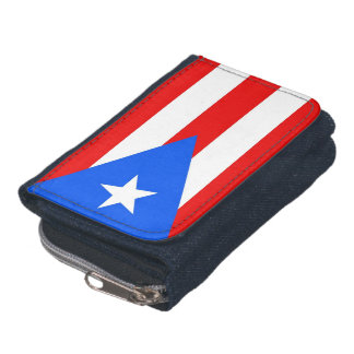 Patriotic wallet with Flag of Puerto Rico