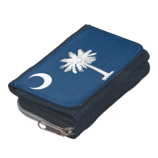 Patriotic wallet with Flag of South Carolina State