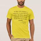 Patriotic Warning by Samuel Adams T-Shirt