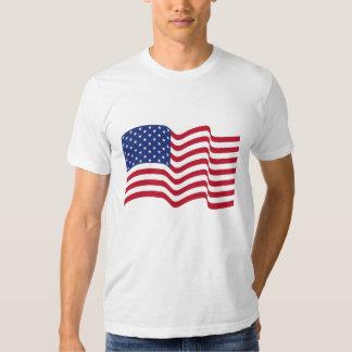 Patriotic Waving American Flag T-Shirt