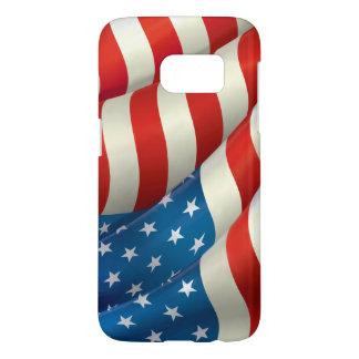 Patriotic Waving U.S. Flag Samsung Galaxy S7 Case