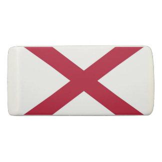 Patriotic Wedge Eraser with flag of Alabama