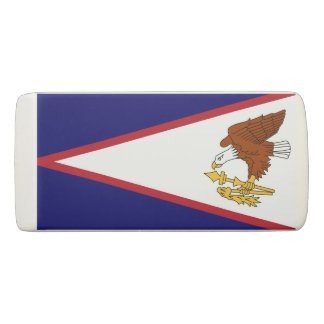Patriotic Wedge Eraser with flag of American Samoa