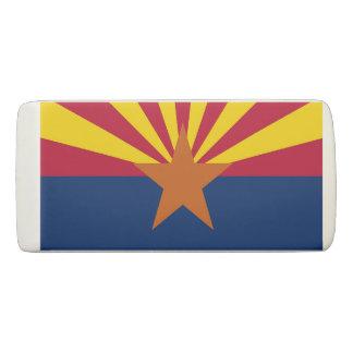 Patriotic Wedge Eraser with flag of Arizona, USA